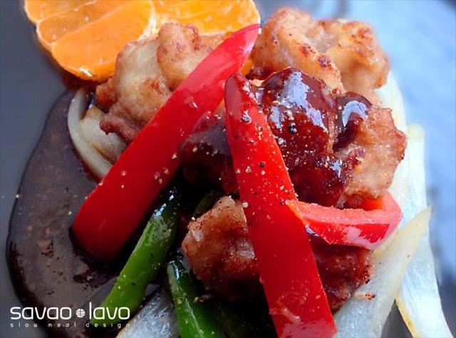蜜柑ビネガーの酢豚