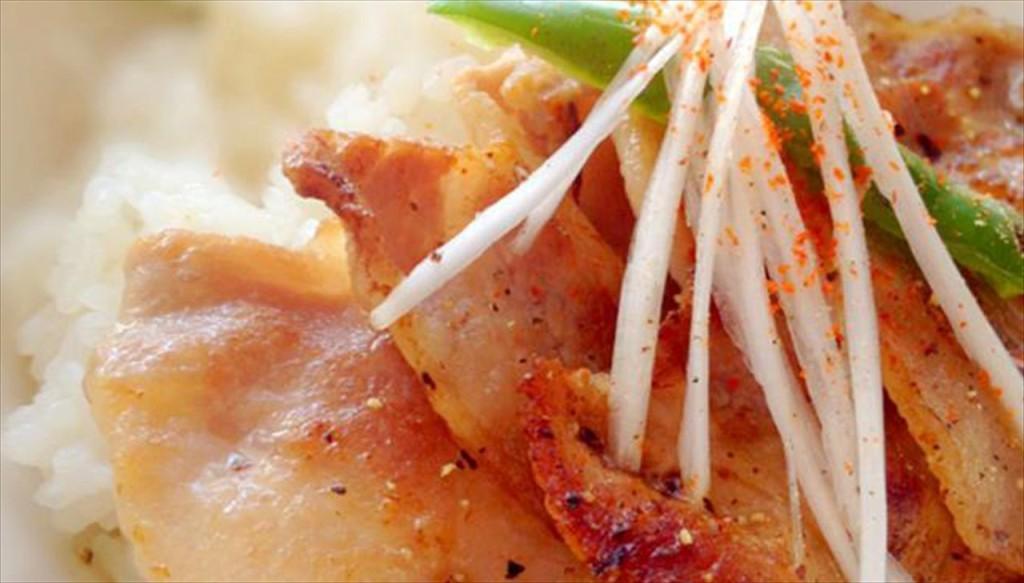酸味がうれしい塩豚丼